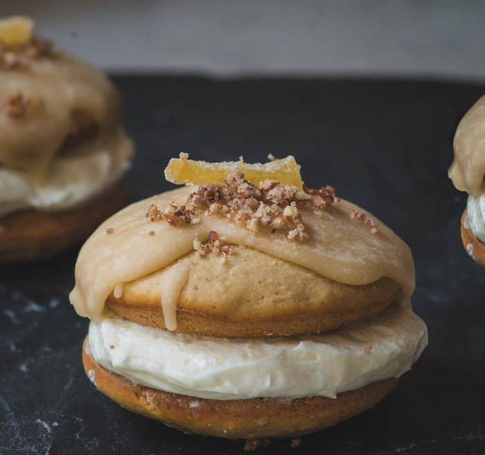 Recipe for ginger apple whoopie pies.