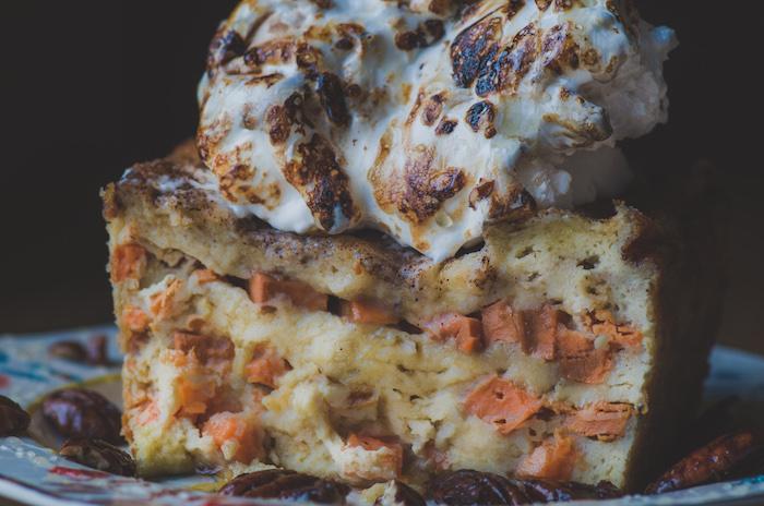 how to make sweet potato bread pudding