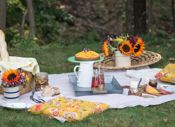 Backyard Picnic date night: backyard picnic